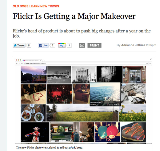 Flickr Freshening Up the Look for 2012