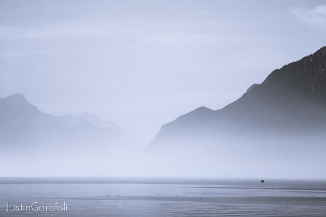 Misty Morning on Lake Geneva
