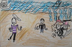 201202-yoyo畫在長濱鄉海邊玩水