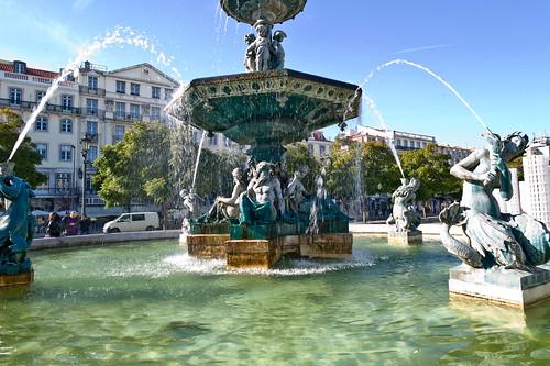 Fountain, Praça de Dom Pedro IV, Lisboa