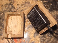 Wooden power supply casing