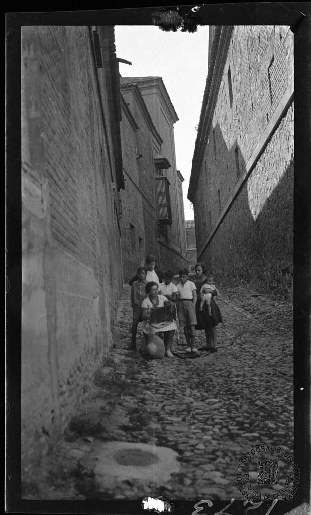 Calle de San Román en 1933. Fotografía de Gonzalo de Reparaz Ruiz. © Institut Cartogràfic de Catalunya