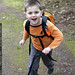 running to school with a backpack on   good times    MG 9009