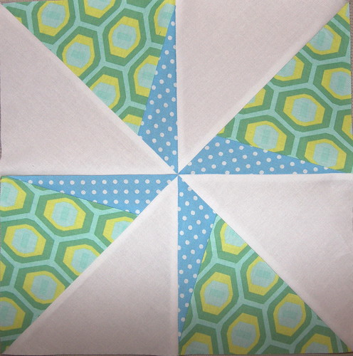 Double Pinwheel 3x6 bee paper pieced