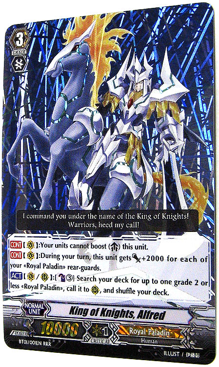 King of Knights, Alfred - CardFight Vanguard - Power Cards ...