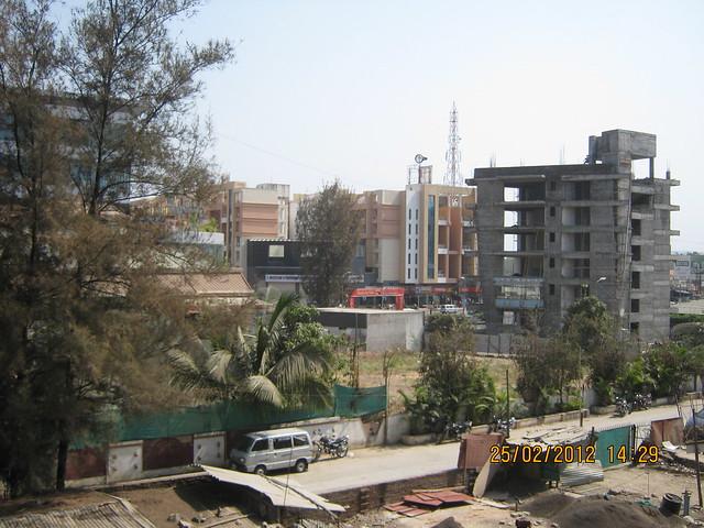 Shivar Chowk from Suhas Mantri Constructions' Mystica 3 BHK Flats behind Shivar Garden Hotel Rahatani Pune 411017