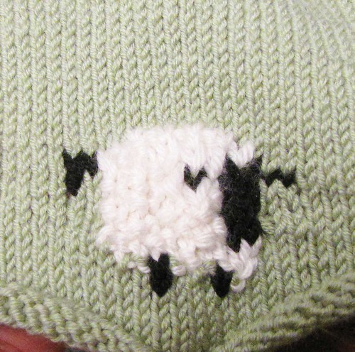 Intarsia Sheep Dress in Progress by Sultry