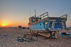 Sunset at Dungeness, Kent Feb 2012 HDR