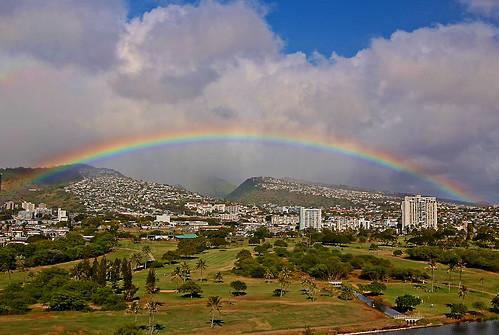 mist clouds hawaii rainbow nikon waikiki oahu manoa alawai d40 koolaumountains alawaigolfcourse nikond40 alawaiboulevard