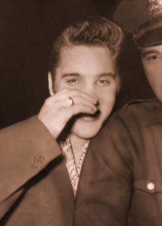 Elvis Presley - Rare - Unpublished Photo - July 1, 1956 -  Hudson Theater, New York City