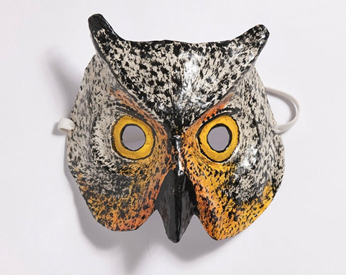 My owl barn papier mache masks for Diy paper mache owl