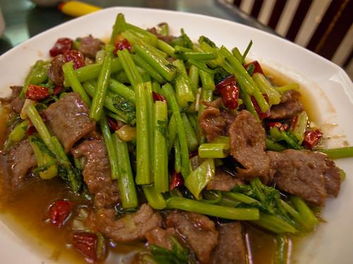 Comida china - carne con verduras