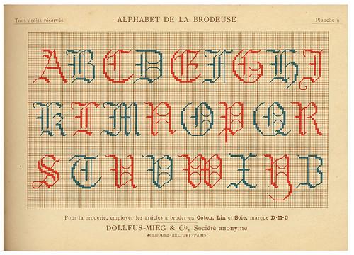 005--Alphabet de la Brodeuse1932- Thérèse de Dillmont