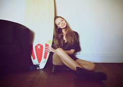 Olga surfing