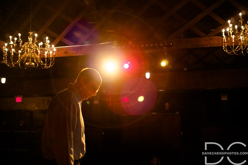 Stephen practicing on stage at The Bell House