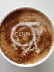 Today's latte, CERN.