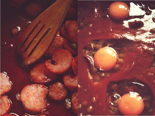 Ervilhas com Ovos Escalfados