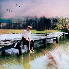 [フリー画像素材] 人物, 男性, 人物 - 河川・湖, アメリカ人 ID:201204290600