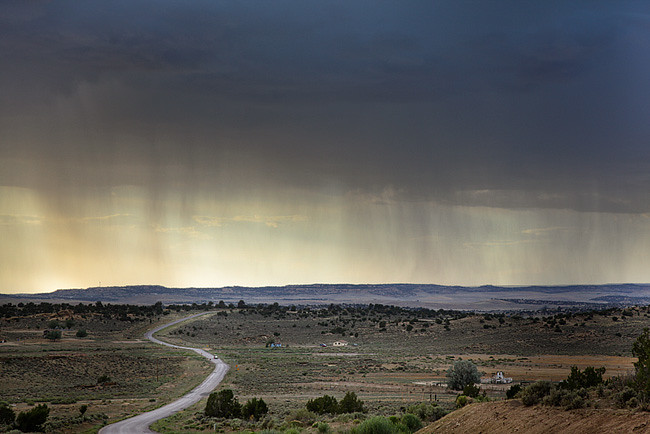 Stormy landscape in the southwest