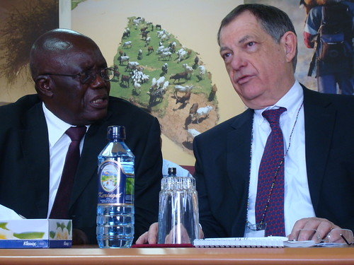 Walter Masiga and Bernard Vallet (OIE)