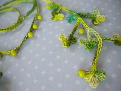 Crochet Shamrock Necklace Tutorial