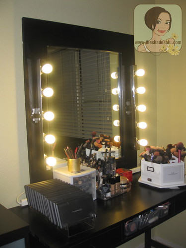 My Makeup Vanity Set Up With Diy Lighted Mirror The