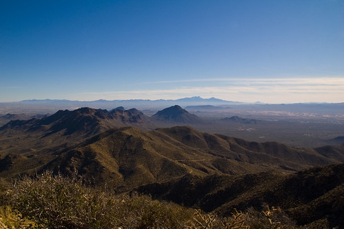 tucson mountains from Wasson peak