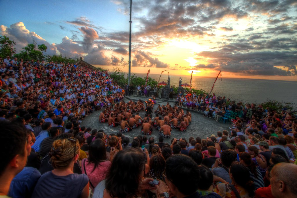 Sunset Kecak at Uluwatu Temple, Bali HDR