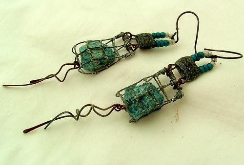 Ghost Net Earrings