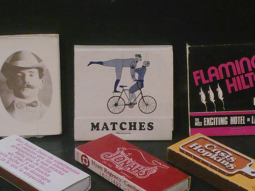 a matchbook featuring a bicycle