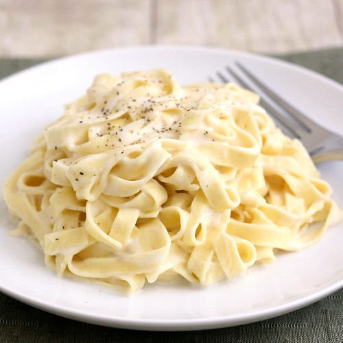 Lighter Fettucine Alfredo