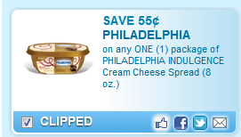 Philadelphia Indulgence Cream Cheese Coupon