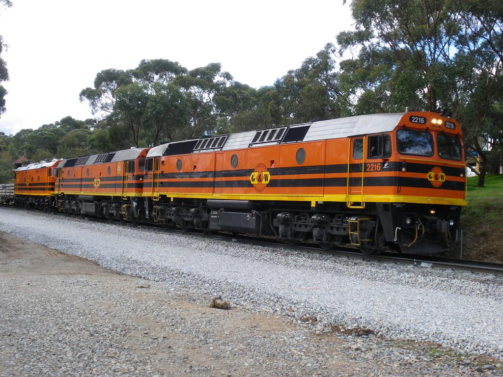 2216/22??/703 on Adelaide Metro Belair line upgrade near Glenalta by alcoworldseries