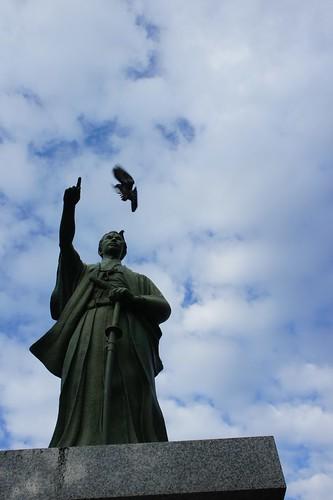 鳩を操る勝先生