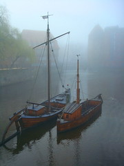 Misty morning in the old harbour