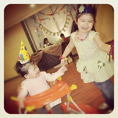❤Julie & Julia❤Goofing around during their cousin's birthday.