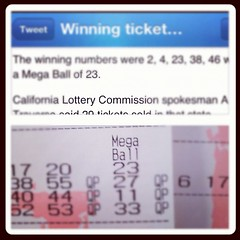 Mar 31, 2012 - I picked the mega ball in the mega millions lotto last night!