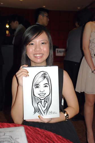Caricature live sketching for Serangoon Junior College Prom Night - 5
