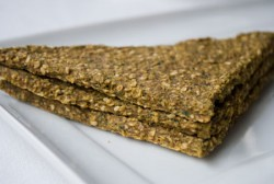 collard sesame flatbread
