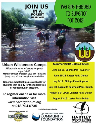 Urban Wilderness Camp 2012 poster