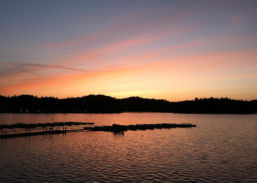 Lake Arrowhead sunset