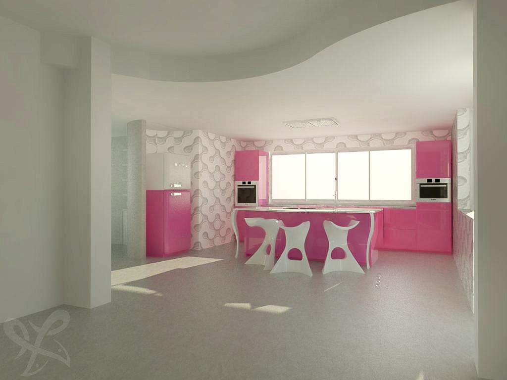 Forum arredamento.it •cucina scic   render rosa   render ...