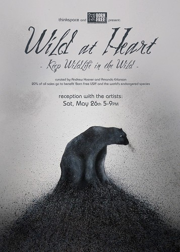 'Wild At Heart' postcard by thinkspace_gallery