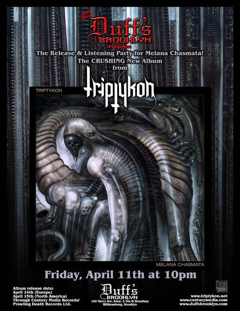 "04/11/14 Triptykon ""Melana Chasmata"" Listening Party @ Duff's, Brooklyn, NYC, NY"