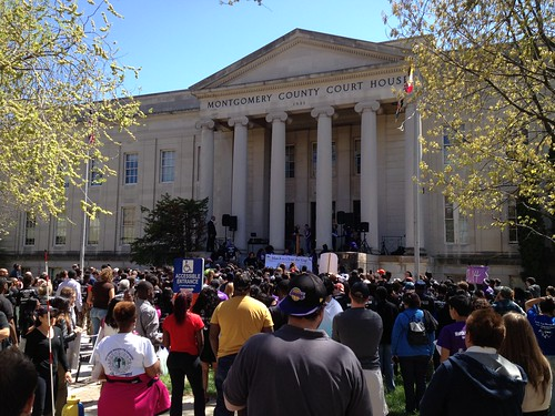 March to Close the Gap Rally in Courthouse Square