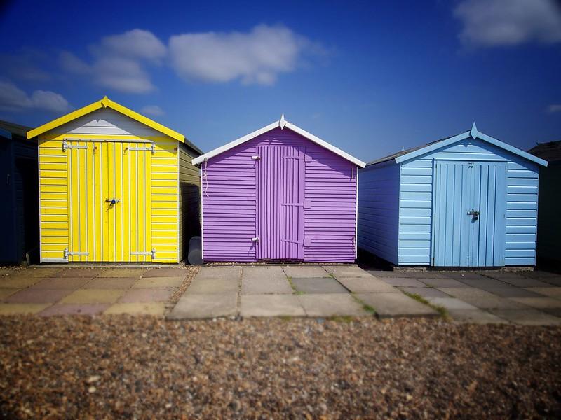 Ferring Beach Huts, England