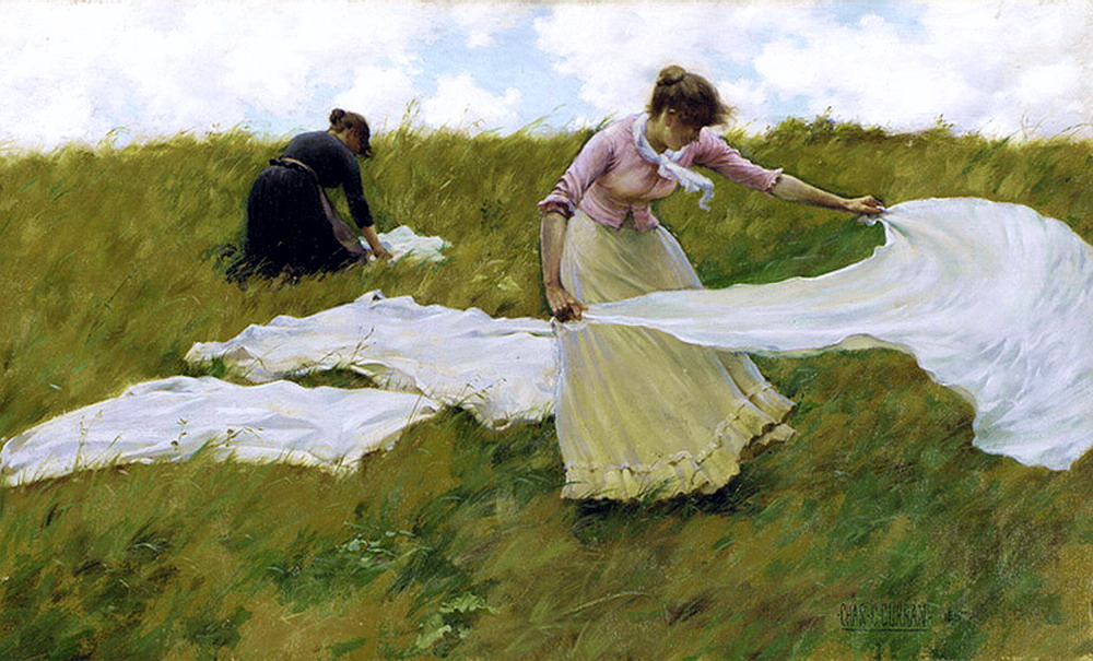 A Breezy Day by Charles Courtney Curran - 1887