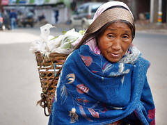 Kohima - Woman with basket