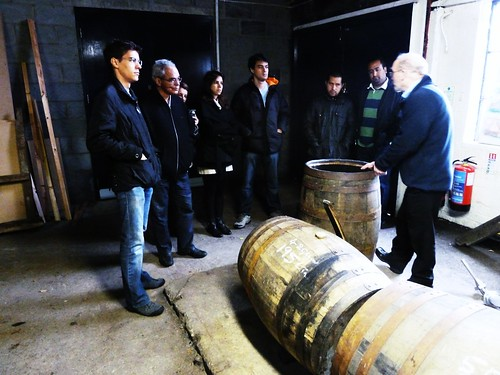 Learning about maturation at Tullibardine Distillery