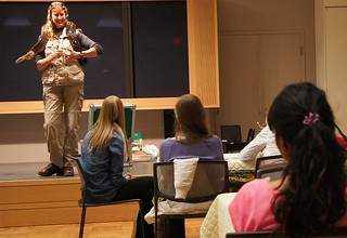 Workshop participants learn about reptile diversity from Sciensational Sssnakes!!